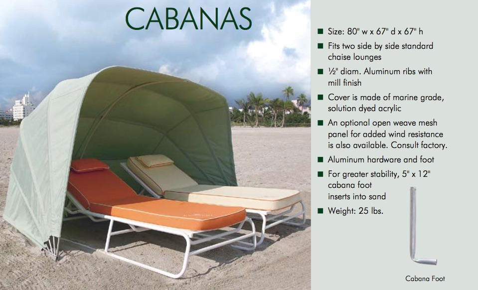 Clamshell Cabanas